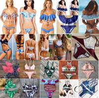 Wholesale Sexy Bra Pads - 100 styles new arrivals Swimwear bikini sexy two pieces Triangle bikini Swimsuit lady sexy Swimsuit Padded bra Bikini free ship