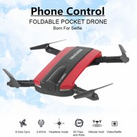 Wholesale Selfie Drone With WIFI FPV Camera Foldable Pocket RC Quadcopter Phone Control Helicopter Wifi Mini Dron VS JJRC H37 Elfie Drone