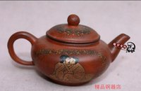 Wholesale Money Collector - Do the old teapot kungfu tea teapot Yixing famous handmade antique erotic figure red clay pot, is a game player collectors choice. Seven day