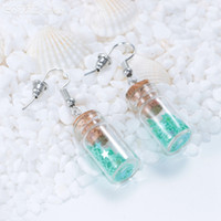 Wholesale Silver Bottle Earrings - 25pieces lot 6 color Lucky Star Drifting Bottle Theme Earring & Eardrop for woman Fashion Jewelry ES0077f