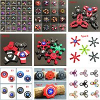 Wholesale Painting Finger - 120Type LED painted colorful metal double bearing series Fidget Spinner Hand Toy All Fidgets Rainbow Hand Spinner Fingertips Spiral Toys