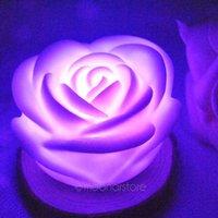 Wholesale Lotus Nightlight - Wholesale- NEw arrival 7 Color Changing Lotus LED Nightlight Romantic atmosphere maker creative little gift