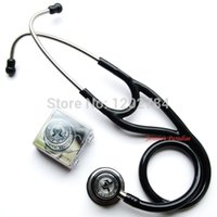 Wholesale Medical Cardiology - Wholesale-Drop shipping Kindcare Professional Stainless Cardiology Stethoscop Stethoscope Classic with name Tag Kindcare medical system