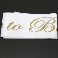 Wholesale White Gold Bride to be Sash Girls Hen Night Bachelorette Bridal Shower Party WN0291