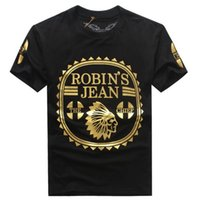 Wholesale Mens T Shirts Print - The United States Robin Jeans Mens T shirts tide brand Mens T-shirt short sleeve XL 3XL