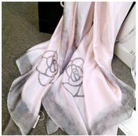 Wholesale Stylish Pashmina - POP STYLISH Luxury Fashion Scarf women Female Spring Autumn Scarfs and shawls wraps pashmina Beach Coverup 180x90cm Long Scarves HOT