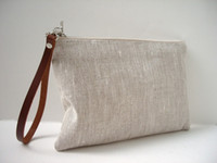 Wholesale blank Linen Clutch Purse Wristlet Small Bag Casual Clutch Purse Everyday Clutch Bag makeup bag cosmetic Bags with matching color lining