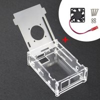 Wholesale Transparent Acrylic Board - Orange Pi PC Acrylic Transparent Case Box Orange Pi PC Plus Clear Enclosure Cover Shell + CPU Cooling Fan for Orang Pi PC PC Plus