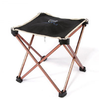 Wholesale Camping Stools Chairs - Hot Sale Aluminum Portable Foldable Folding Fishing Chair Tool Square Camping Stool Lightweight Metal Furniture Free Shipping