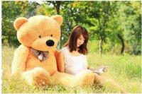 "Wholesale teddy bear 72 - New arrival 6.3 Toycity giant Teddy Bear stuffed FEET TEDDY BEAR STUFFED LIGHT BROWN GIANT JUMBO 72"" size:160cm birthday gift"