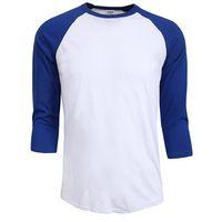 Wholesale Men Raglan Shirts - Hot sale summer autumn Men O-Neck 100% Cotton T-shirt Men's Casual Sleeve Tshirt Raglan Jersey Shirt man