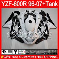 yamaha yzf thundercat carenado al por mayor-8Gift 23Color para YAMAHA Thundercat YZF600R 96 97 98 99 00 01 53HM5 Negro blanco YZF 600R YZF-600R 1996 1997 1998 1999 2000 2001 Kit de carenado