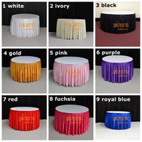 Wholesale Cheap Satin Table Cloths Wholesale - Cheap Price Satin Table Skirt \ Table Cloth Skirting For Wedding And Event Decoration Free To Door Shipping