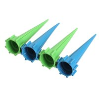 Wholesale Water Spike Automatic Watering - 4pcs lot Automatic Garden Cone Spike Watering Plant Flower Waterers Bottle Irrigation System size 13.5 cm * 2.8 cm