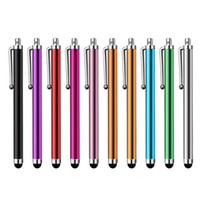 Wholesale Metal Mini Stylus - Wholesale 1000pcs lot Capacitive screen Metal stylus touch pen with clip for iphone3G 3GS 4 4S iphone 5  iPad mini iPad iPod touch