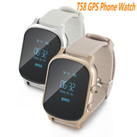 Wholesale Bracelet Watches Cell Phone - T58 Smart Phone Watch GPS Tracker Gsm GPS Bracelet Personal Locator for Kids Children Eder Adult with Google Map SOS Button Ann