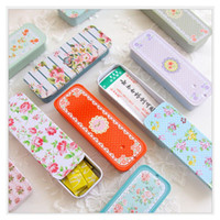 Wholesale Printed Tin Boxes - Mini Vintage Storage Tin Box Protable Case Coin Bag Jewelry Box Lovely Print Creative Gift use Mix Pack 12piece lot