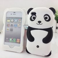 2016 New Popular Cute 3D Panda Soft Silicone Protetor Back Phone Case Cover Skin para iPhone 4 4S 5 5S 6s 7 7 mais alta qualidade M1Y 7CIC