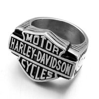 Wholesale Man Steel Cast - Europe and the United States party Metrosexual Harry locomotive titanium ring ring male jewelry casting punk man personality