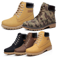 Wholesale Mens Warm Winter Boots - US4-12 Mens Mid-Calf Military Combat Ankle Boots Lace Up Fleece Liner Warm Winter Army Fashion Shoes Knight Unisex Womens Waterproof YYQ276