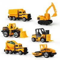 Wholesale Model Bus Toys - 6pcs set Alloy engineering car tractor toy model farm vehicle belt boy toy car model children Birthday Day Xmas gifts