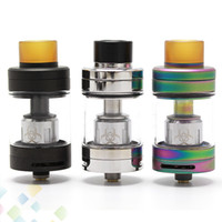 Authentic Advken Dominator Tank 24mm Atomizer 4.5ml 510 Drip Tip Compatível com RBA Deck e Coil Head 3 cores Ecig DHL Free