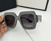 Wholesale Color Glass Diamond - Square Fashion Sunglasses for Women Brand Designer with Package Free Shipping Sun Glasses Diamond Sunglasses 2017 New for Summer
