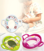 Wholesale Portable Baby Toilet Seat - High quality Baby Child folding portable to carry toilet baby potty chair Kids Comfortable Infant Chamber Pots Foldaway Toilet Training Seat