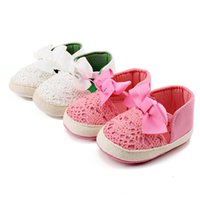 Wholesale White Crochet Style Baby Shoes - Delebao 2017 New Hollow Style Butterfly-kont Soft Sole Infant Toddlers Baby Girl Princess Shoes For 0-18 Months
