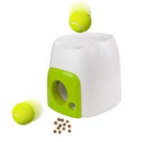 bolas de perro animales al por mayor-Juguete para perros Máquina de premios Máquina Entrenadora Tenis Béisbol Fetch Pelota interactiva Mascota Divertida Pequeños Animales Juguetes Gato Herramienta de entrenamiento