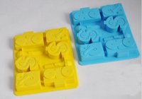 Wholesale Microphone Style - Hip hop style ice cube $ microphone music etc shape ice tray Creative hot summer ice mold