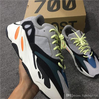 Wholesale Wholesale Fashion Shoes For Women - 2017 Y Boost 700s Design By Kanye West Wave Runner 700 Running Shoes for Men Fashion Season 5 Sports Sneakers Women with Box