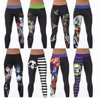 Wholesale Sport Queens - Corpse Bride Yoga Workout Pants Snow White Evil Queen Sports Running Pants Skeleton Skull Ankle Legging Women Gym Pilates Tights