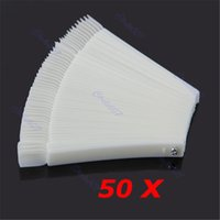Pratique le clou du fan board France-Vente en gros - Vente chaude 50Pcs / Lot Outils à ongles Blanc Transparent False Nail Art Tips Sticks Polish Display Fan Practice Tool Board