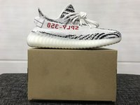 Wholesale With Original Box New Boost V2 Zebra Releases Running Shoes Sneakers Sply Boost V2 Kanye West Boosts White Black Red