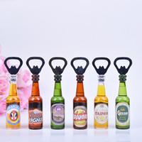 Wholesale Wholesale Decorative Magnets - Creative personality mini bar beer bottle opener Bottle Opener Rev Bottle To Open Decorative Refrigerator Magnets Kitchen S201767