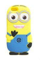 Wholesale I Phone Gel - Apple I phone 4s 5s carton silica gel Protective Soft Moblie Cellphone Case