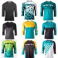 Wholesale Mens Road Cycling Jersey - 2017 New YETI Motocross Motorcycle Jersey downhill DH T-shirt Racing Off-road Clothes Summer Spring Autumn Mens MTB cycling jersey clothing
