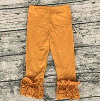 Children Elastic Icing Pants Icing Baby Leggings Ruffle Boutique Clothing Cheap Wholesale
