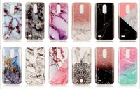 Flower Marble Soft TPU IMD Case pour LG (K10 K8 K4) 2017 Lace Hybrid Silicone Gel Rock Granite Natural Stone Cell Back Cover Skin