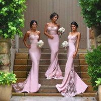 modabelle Pretty Bridesmaid Dress Long Backless Satin Formal Gowns Lilac Bridesmaid Dresses 2018 Mermaid WIth Appliques Кружевные спагетти