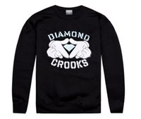 Wholesale Diamond Head Set - 2017 hiphop spring and autumn winter crooks and diamond leisure men and women clothing long sleeve set of head guard hoodies plus size