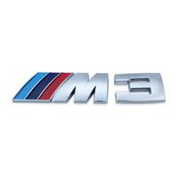 Wholesale Logo Bmw E46 - 50Pcs M3 Logo Badge Emblem Sticker Decal for BMW M3 318i 330i E46 Z3 Blue  Dark Blue  Red Free Shipping