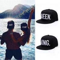 Wholesale Sport Queens - Queen+King 2pcs Baseball Sports Caps Hip Hop Snapback Hat Lovers Couple Gift