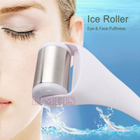 Wholesale Cool Ice Roller - New stainless head skin cool face ice roller massage roller for Face and Body Massage facial skin and preventing wrinkles Skin cool