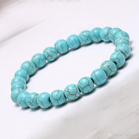 Wholesale Men S Prayer - Handmade Natural Lava Stone Turquoise Prayer Beads Charms Bracelets Anti-fatigue Volcanic Rock Men\'s Women\'s Fashion Diffuser Jewelry