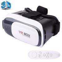universal 3d vr venda por atacado-Atacado-VR BOX 2.0 Universal Virtual Reality 3D Óculos de Vídeo Bluetooth Controle Remoto para 3.5 a 6 polegadas Smartphones