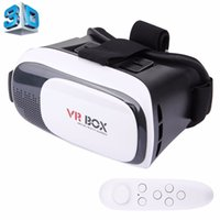 ingrosso universal 3d vr-Remote-VR BOX 2.0 Universal Virtual Reality 3D Video Occhiali Bluetooth Remote Controller per smartphone da 3,5 a 6 pollici