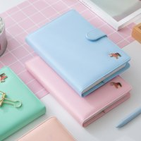 Wholesale Korean Kawaii Cute Colorful Pages Plan Daily Weekly Monthly Yearly Planner Agenda Dairy Macaron Cover Notebook Organizer A5