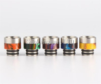 Wholesale ecig mouthpiece stainless for sale - Group buy Ecig TFV8 Baby Epoxy Resin Clearomizer Mouthpiece Thread drip tip stainless steel metal drip tips for TFV8 baby Atomizer